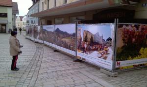 Werbeplanen in der Hauzenberger Fuzo