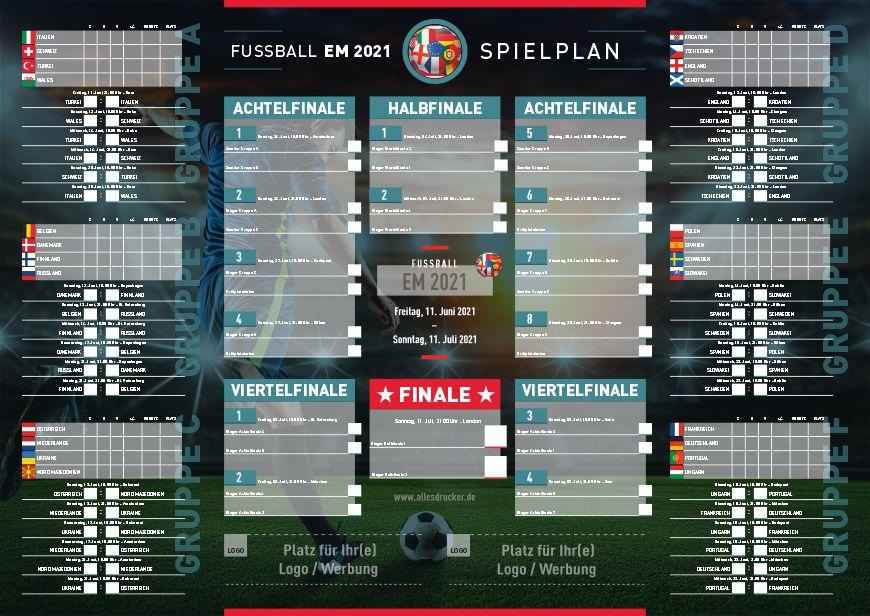 Spielplan zur Fussball EM 2021